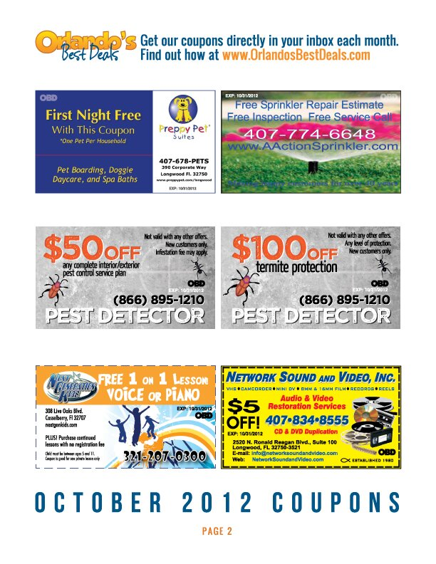 obd coupons oct 12 pg2 Orlando Coupons   October 2012